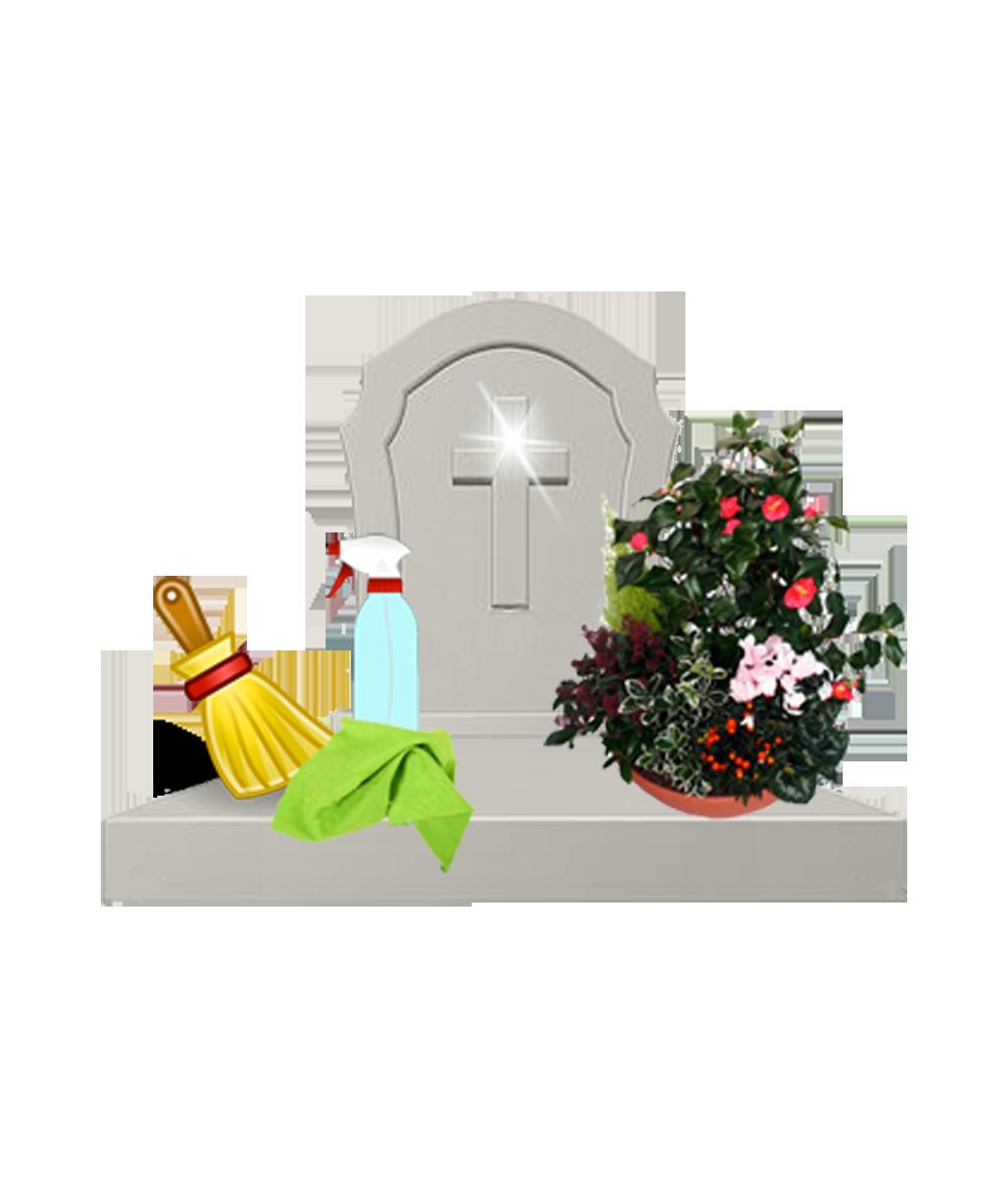 Nettoyage et fleurissement de tombes SEPULCLEAN.